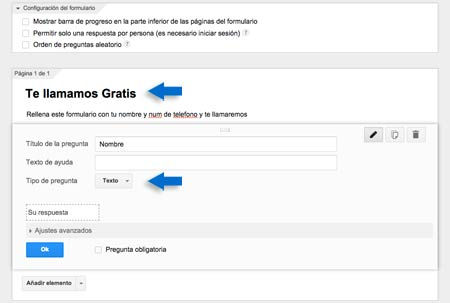 creamos titulo y descripcion google forms