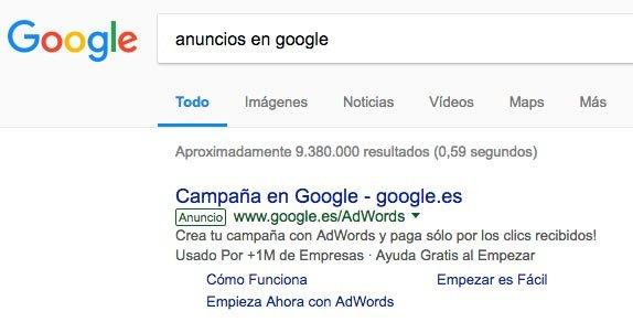 nueva etiqueta de google adwords en los anuncios